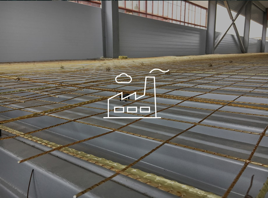 Reinforcing industrial floor