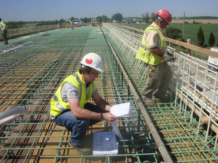 Fiberglass reinforcement of bridge