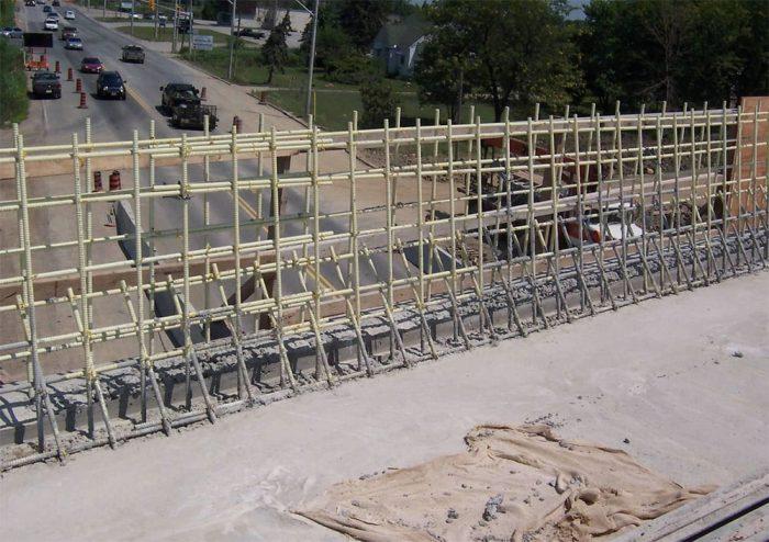 Guard railing reinforcement