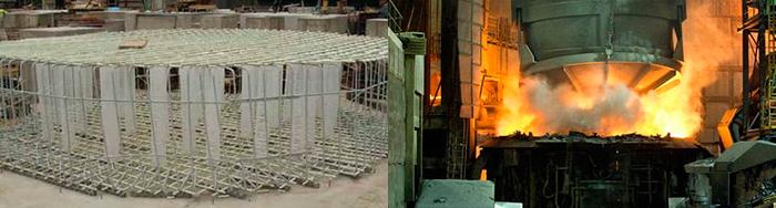 Steel surface with fiberglass reinforcement